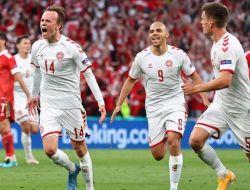 Euro 2020: Denmark Lolos 16 Besar Usai Hajar Rusia 4-1