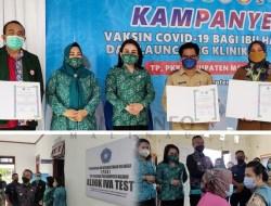 Bupati Malinau Hadiri Kampanye Vaksin Covid-19 untuk Ibu Hamil Sekaligus Launching Klinik Iva Test