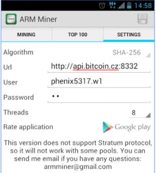 Cara mining bitcoin di android 2