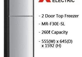 Kulkas Mitsubishi MR-F25E dan MR-F30E