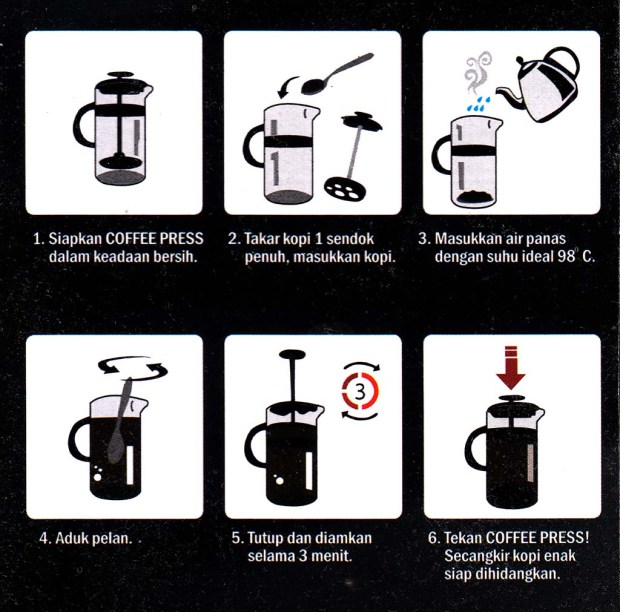Manual penggunakaan Coffee Press