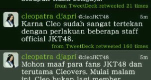 cleo,cleo keluar,jkt48