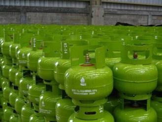 Ilustrasi gas LPG 3 Kilogram.
