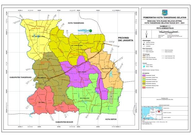 Peta Kota Tangsel   Kabar Tangsel