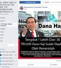 [SALAH] Dana haji dipakai oleh pemerintah Jokowi untuk membangun infrastruktur