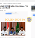 [SALAH] Kecewa Kader NU Tak Di Jadikan Menteri Agama, PBNU Do'akan Jokowi Kualat