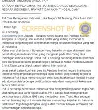 [SALAH] PM China Peringatkan Indonesia Akan Kirim Pasukan Bila Tragedi 98 Terulang