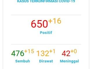 Data Pantauan COVID-19 Kota Tangerang Selatan Note : Last Update 11 Agustus 2020 (Sumber data Gugus tugas COVID-19 Kota Tangerang Selatan)