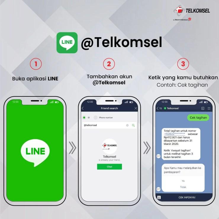 Aplikasi Line Tanya Veronika Asisten Virtual Telkomsel