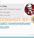 [SALAH] KFC Bagikan Bucket Ayam di Hari Perempuan Internasional