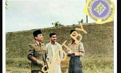 [SALAH] Pria yang di Tengah Presiden Soekarno dan Jendral Soedirman adalah Ayahanda Rizieq Shihab