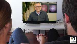 Self Study Image - David Sanders on TV screen