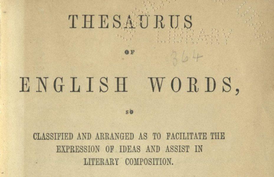 Blog thesaurus