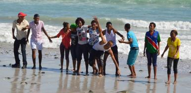 The group outing to Yzerfontein