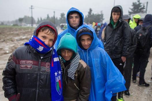 The 'terrifying' refugees: Photo: AP