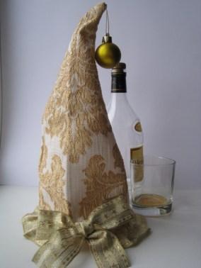 Новогодний чехол для бутылки