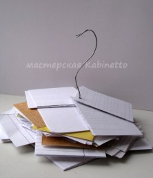 Recycling бумаги - листки для заметок из б/у бумаги