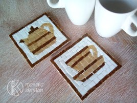 Mosaic coasters set.