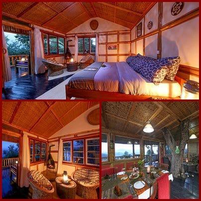 Nkuringo Bwindi Gorilla Lodge in scenic Nkuringo Area of Bwindi Forest