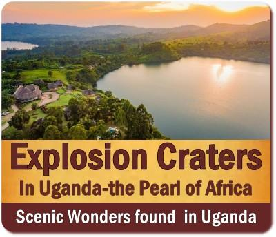 The Scenic Explosion Crater Lakes found in Uganda