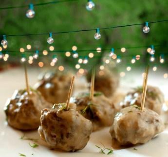 Meatballs and garden lights