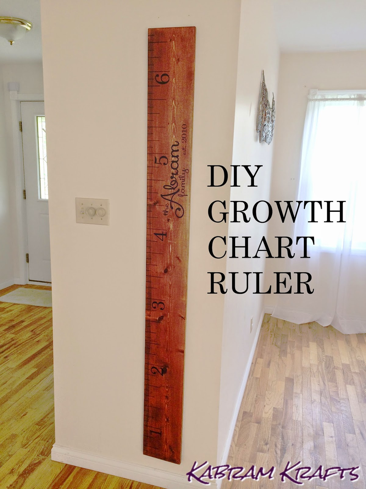 Diy Wooden Growth Ruler Chart Kabram Krafts
