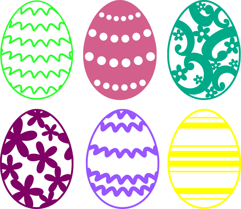 Easter Egg Cutting Files - Free SVG Download