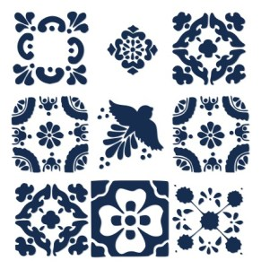 Spanish Tile Inspired Free SVG Download - Just click image for free SVG file download.