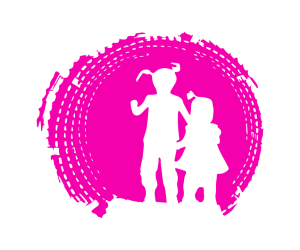 custom silhouette svg of girls in tunnel