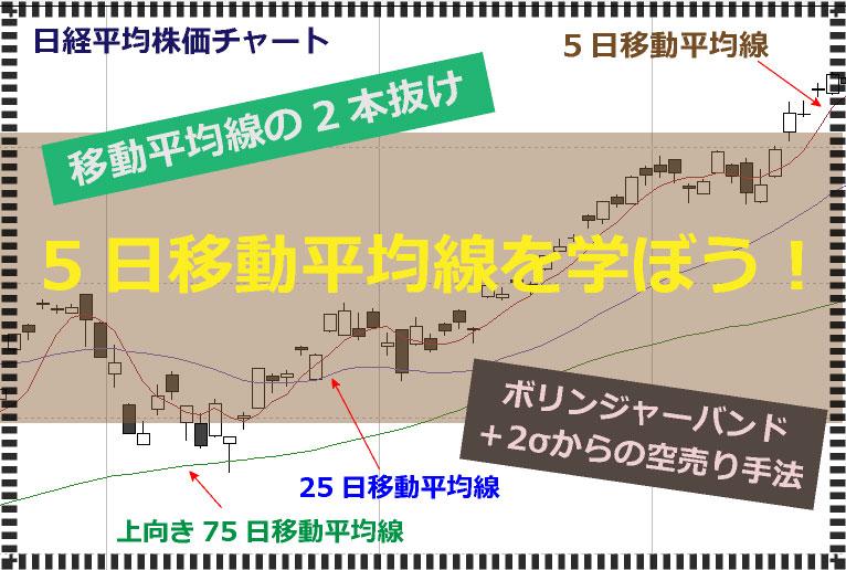 """5日移動平均線の基本から""""プロが密かに使う""""空売り手法までを解説!"""