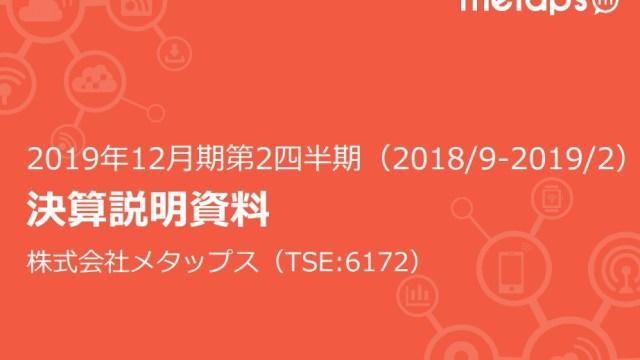 20190415-メタップス2Q決算表紙