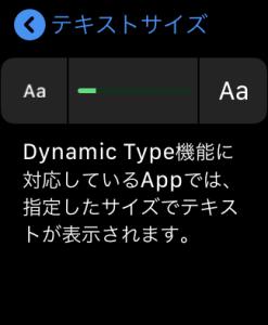 Apple Watch 設定画面