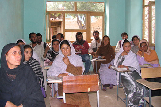 Kabultec adult literacy class