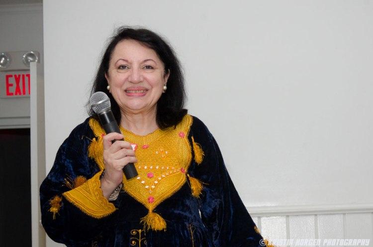 Nasrine Gross giving her talk at Kabultec's 2016 Benefit Dinner.
