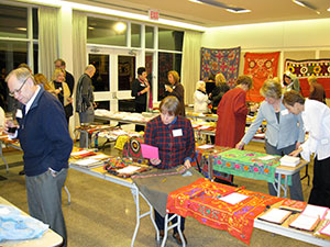 Afghan crafts up for auction at the Kabultec Benefit Dinner.
