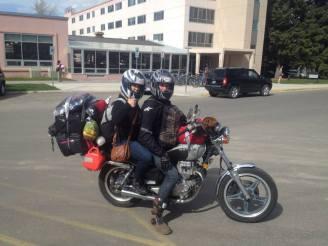 Leaving Bozeman for the big motorbike adventure