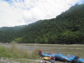 White Water rafting the Bhote Kosi