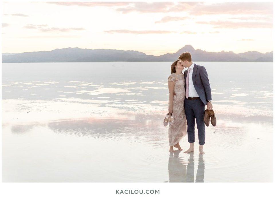 Bonneville Salt Flats Engagement Photo