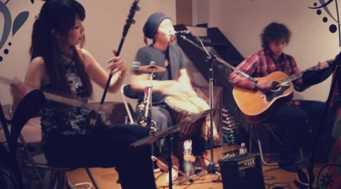 2014/6/15 sun 神戸 『二胡×アフリカン・ジャンベ×ギター×唄 伐娑羅 -Ba Sa La- LIVE』