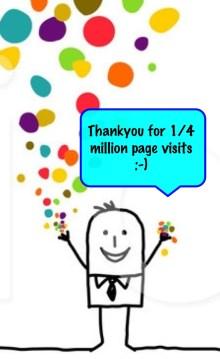 thank you for visiting Kadampa Life quarter million visits