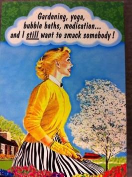 still want to smack someone need meditation