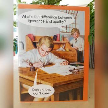 ignorance apathy