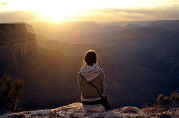 meditator in the Grand Canyon