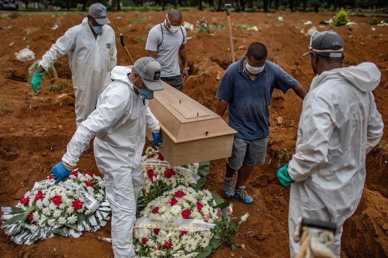 ब्राजिलमा पछिल्लो तथ्यांक कोरोनाबाट मर्नेको संख्या सार्वधिक बढी