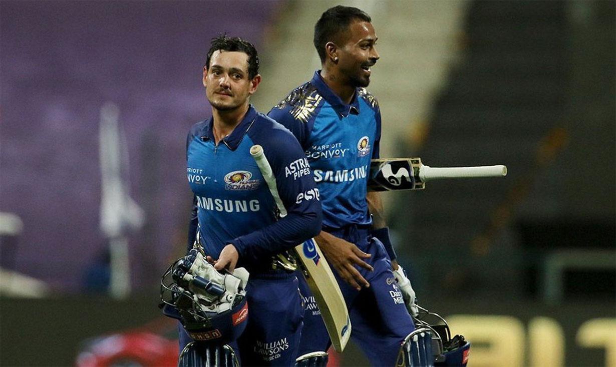 मुम्बई इन्डियन्सले कोलकाता नाइटलाई ८ बिकेटले हरायो