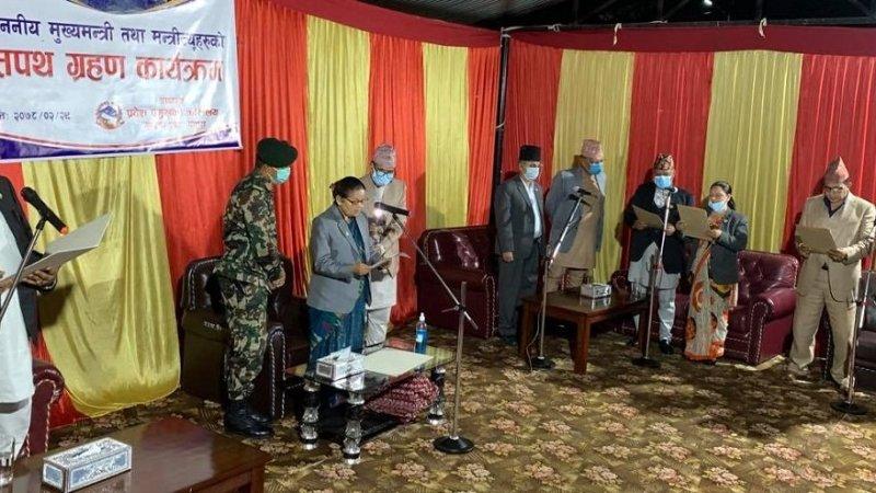 नवनियुक्त मुख्यमन्त्री कृष्णचन्द्र नेपाली पोखरेलले मुख्यमन्त्रीको सफथ संगै मन्त्रिपरिषद् विस्तार