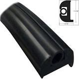 RR-HDLPB Rub Rail P Shape Black 10' HD