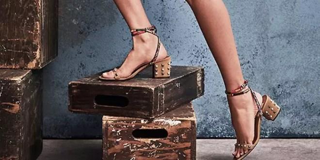 yazlık topuklu ayakkabı