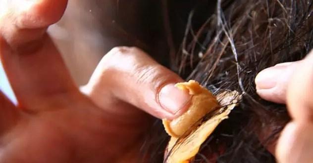 saça yapışan sakızdan