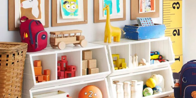 çocuk odası için oyuncak düzenleme